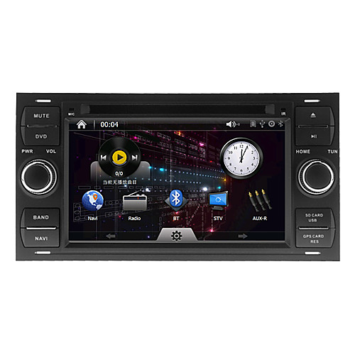 7Inch 2 Дин В-Dash DVD-плеер автомобиля для Ford Focus 2006-2013 с GPS, BT, IPOD, RDS, Сенсорный экран, телевизор Lightinthebox 10312.000