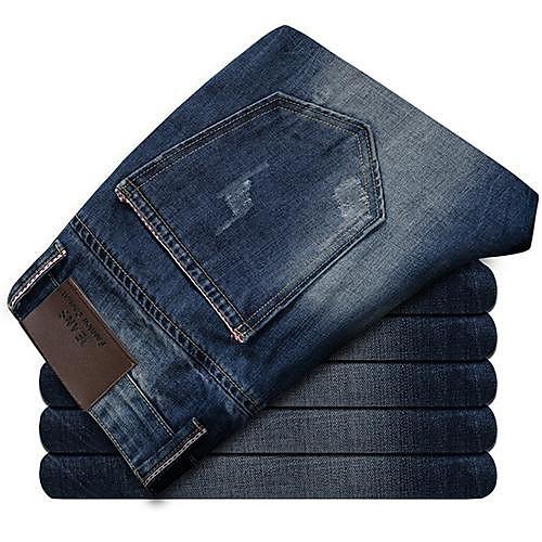 Мужская корейский стиль моды Wash Джинсы Lightinthebox 1396.000