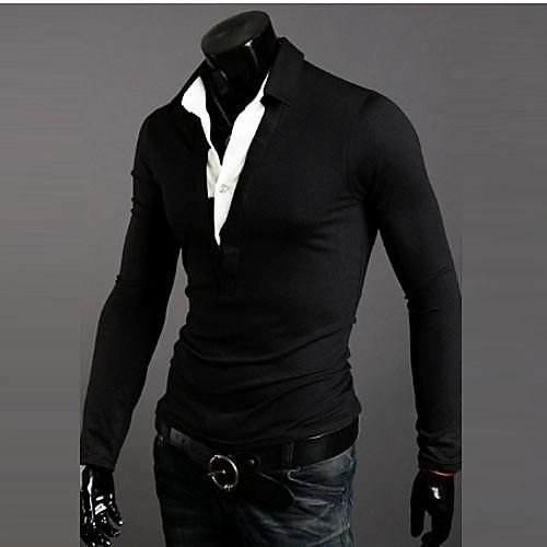 Reverie Uomo Мужская два-Piece Черная футболка Lightinthebox 858.000