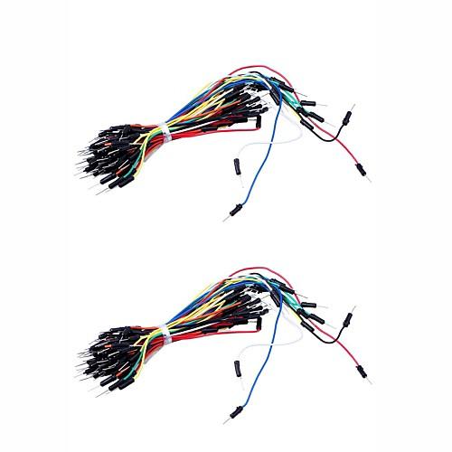 Совершенно новые Электронный DIY 65pcs Макет соединительный кабель Провода (2шт) Lightinthebox 214.000