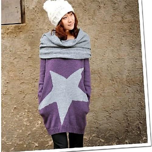 Весна и осень Большой Длинный Дизайн материнства свитер с шеи покрытия Полное рукав вязаный Lightinthebox 977.000