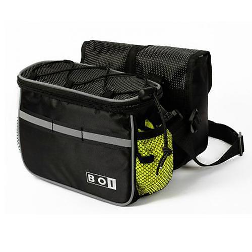 Велоспорт нейлон серый и черный демпфирования Статья Светоотражающие Дизайн открытом воздухе велосипед труба сумка Lightinthebox 644.000