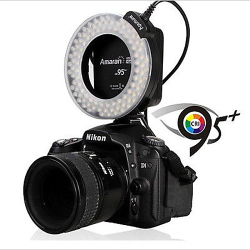 Aputure Amaran Halo АХЛ-HN100 LED Macro Ring Flash Light 95 CRI для Никон F951 Lightinthebox 1503.000
