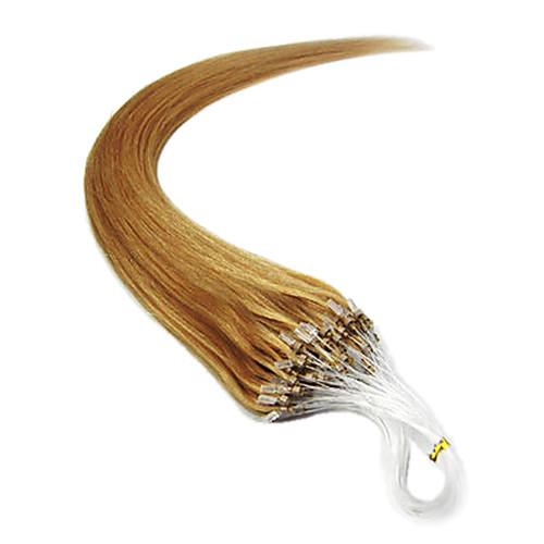 Remy 16 дюймов 1шт Loops Micro Кольца Бусы чаевые Прямые Наращивание волос больше света Цвета 100s/pake 0,4 г / с Lightinthebox 1073.000