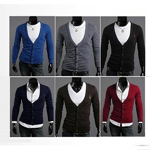 Мужская мода Классический свитер с длинным рукавом Повседневный кардиган Lightinthebox 781.000