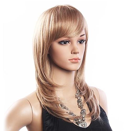 Высокое качество 20% человеческих волос и 80% термостойкого волокна волос монолитным средней вьющимися парик (платиновый блондин) Lightinthebox 1718.000