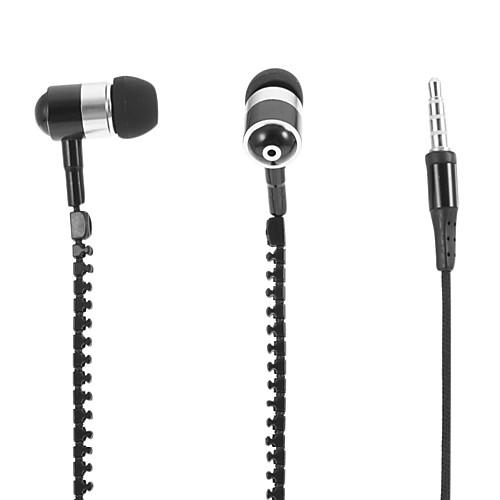 HXT-2045 Молния Стиль наушники-вкладыши с микрофоном для мобильного телефона (черный) Lightinthebox 329.000