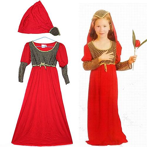 Симпатичные Джульетта Красный полиэстер Детский Halloween Party Костюм (для высоты 120-135cm) Lightinthebox 1073.000