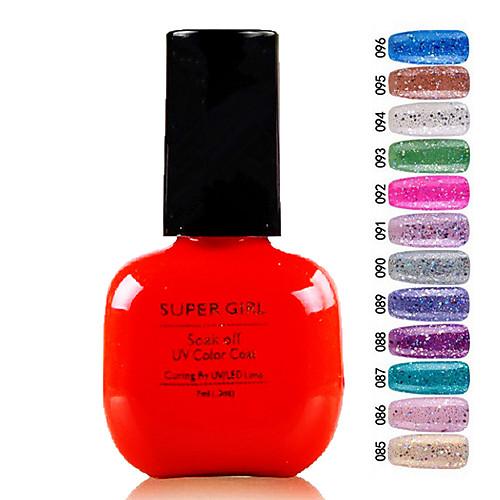 Super Girl Великолепная замочить от УФ цветной гель No.85-96 (1шт 7 мл, разных цветов) Lightinthebox 257.000