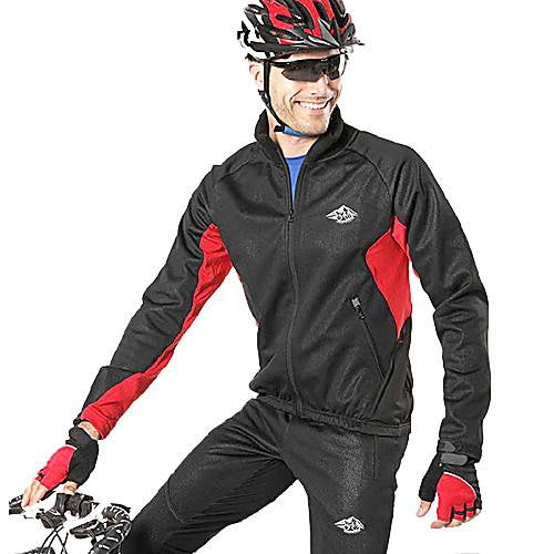 ЛУНА Велоспорт Осень и Зима Черный руно с длинным рукавом велосипедов Джерси костюм с силиконовой прокладкой Lightinthebox 2148.000