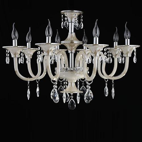 8-Свет стиль дворца Стеклянная люстра со свечой накаливания Lightinthebox 12031.000