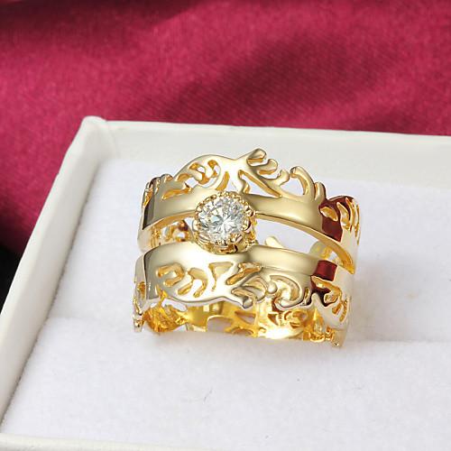 Высокое качество фантастическое Позолоченные ясно Rhinestone брызги Кольцо женщин Lightinthebox 154.000