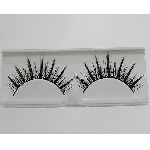 1 пара Pro Высокое качество, ручная синтетического волокна волос Тонкий Длинные Стиль Накладные ресницы Lightinthebox 128.000