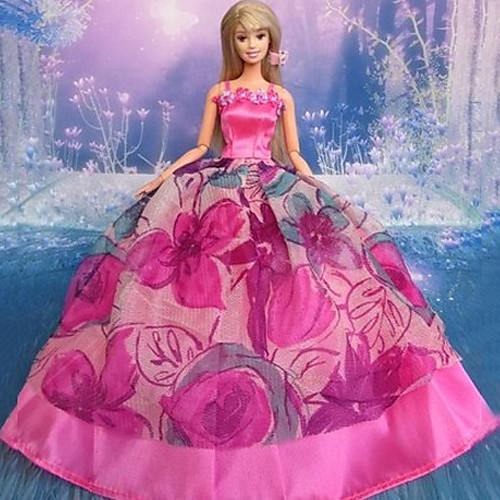 Кукла Барби Красная роза Дизайн принцессы Свадебное платье Lightinthebox 343.000