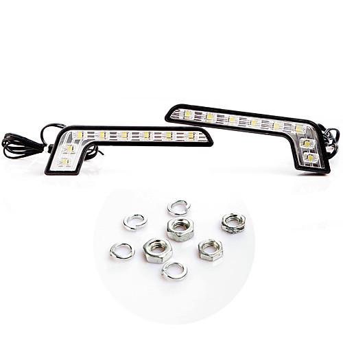 2  супер яркий белый 8 СИД DRL автомобилей дневного дальнего света от Lightinthebox.com INT