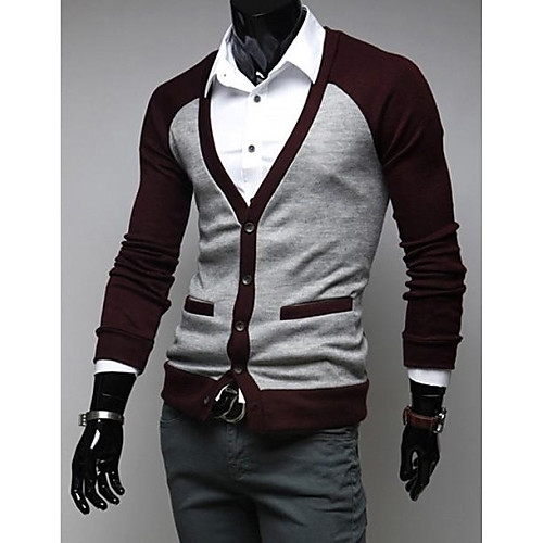Мужская мода свитер с длинным рукавом Повседневный кардиган Lightinthebox 666.000