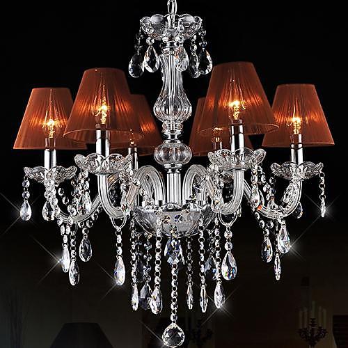 Высокое качество LED E14x6 3W Современная хрустальная люстра светильник подвеска Кристалл потолочные лампы с Lampcup Lightinthebox 7304.000