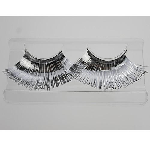 1 пара Pro Высокое качество ручной работы синтетического волокна волос Серебрянный Цвет толщиной длинний Shimmer Cannetille Стиль Накладные ресницы Lightinthebox 128.000