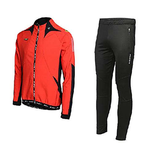 ЛУНА Велоспорт Осень и Зима руно с длинным рукавом велосипедов Джерси костюм с силиконовой прокладкой Lightinthebox 2148.000