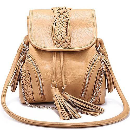 Женская мода Повседневная трикотажные Crossbody сумка с кистями