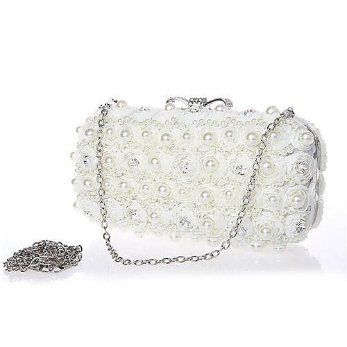 Шифон свадьба / особых поводов Муфты / Вечерние сумки со стразами / искусственный жемчуг (больше цветов)