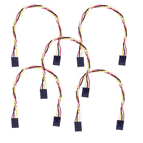 4 PIN Дюпон провода Женский Разъем 200мм Длина 2.54мм Шаг - многоцветный (5Packs) Lightinthebox 171.000