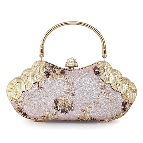 Атласная Свадебные / специальные муфты связи / Вечерние сумки с золотым аппаратных (больше цветов)