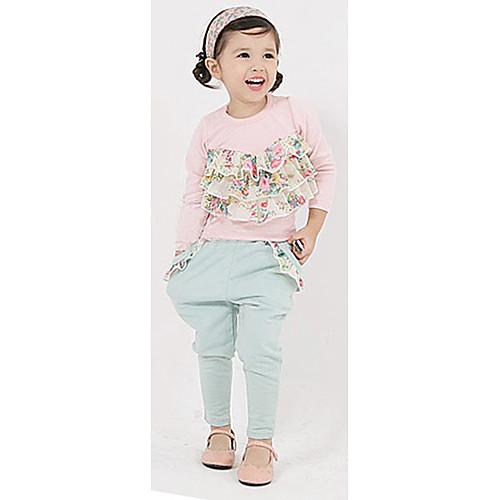 Девушки корейский цветочный принт Одежда наборы Lightinthebox 1460.000