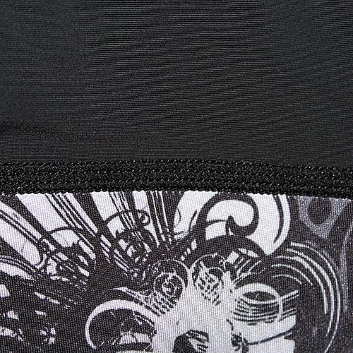 KOOPLUS паука Череп Мужская Черный Фитнес Эластичный Тощий Быстрый сухую коротким рукавом Велоспорт футболка Lightinthebox 1718.000