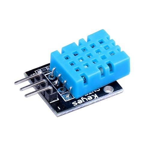 Arduino совместимый DHT11 Цифровой Температура Влажность Модуль датчика - черный  синий (5 шт) Lightinthebox 644.000