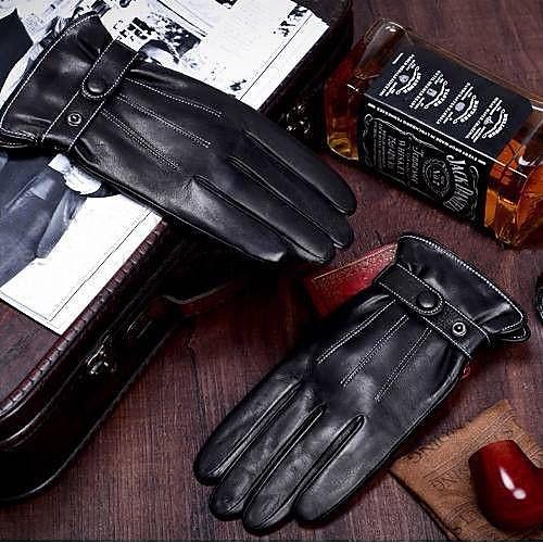 Перчатки зимние мужские из кожзама Lightinthebox 343.000