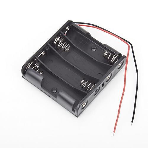 Пластиковые Батарея Дело Box держатель для АА с проволочными выводами Lightinthebox 42.000