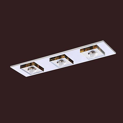 Под Кристалл заподлицо с 3 огнями, современного Кристалл янтаря гальванических нержавеющей стали. Lightinthebox 3866.000