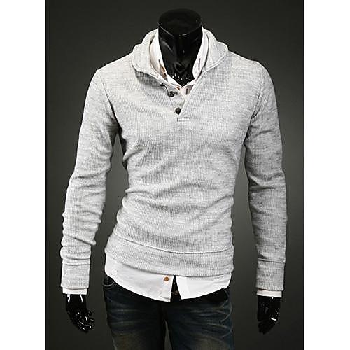 Мужская мода весна пуловер Трикотаж Lightinthebox 1116.000