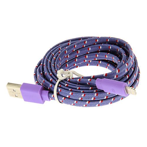 Weave Line USB 2.0 Мужского на 8-контактный разъем для iPhone5/5s (Синий 3.0м) Lightinthebox 85.000
