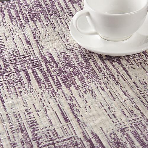 Набор из 4 Фиолетовая полоса Placemats обуви Полиэстер Lightinthebox 1159.000