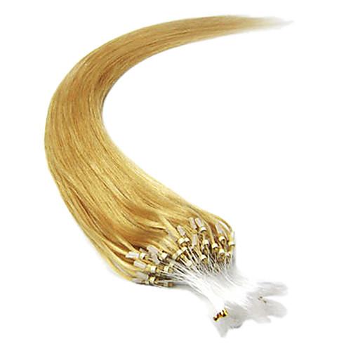 Remy 20Inch 1шт Loops Micro Кольца Бусы чаевые Прямые Наращивание волос больше света Цвета 100s/pake 0,5 г / с Lightinthebox 1503.000