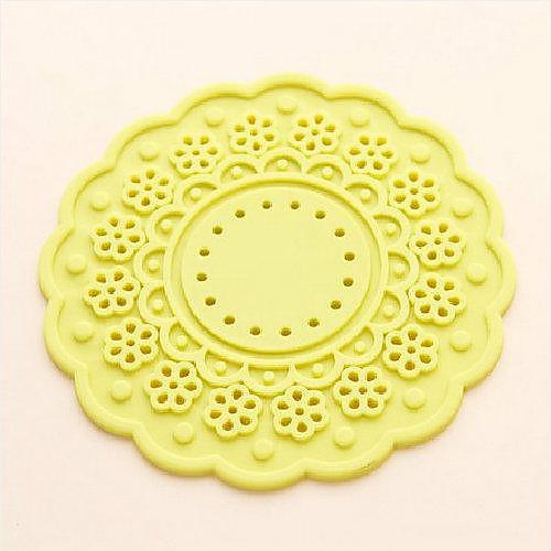 JJJ-K1064 Свежие цветы, конфеты цветные толстые силиконовые Coaster Круглый Многосторонняя Тепло Pad Lightinthebox 85.000