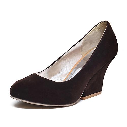Кожи женщин Коренастый пятки каблуки Насосы / каблуки обуви (больше цветов) Lightinthebox 1073.000