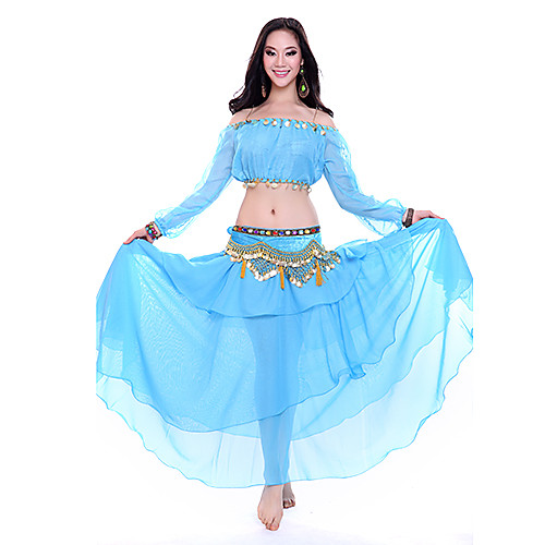 Танцевальная одежда Женские шифон рюшами Belly Dance, Юбки (больше цветов) Lightinthebox 1030.000
