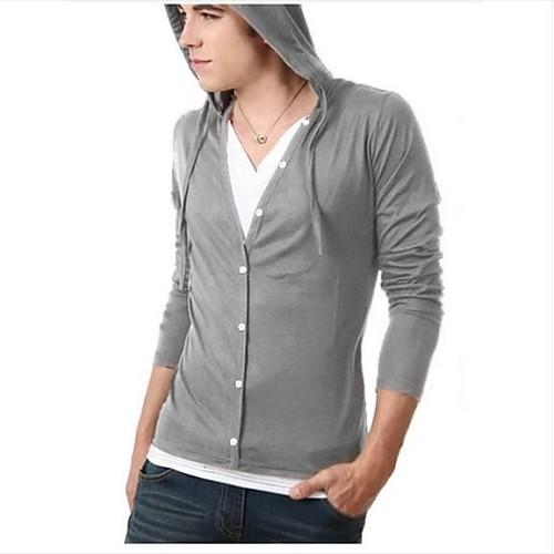 Мужская мода с капюшоном с длинным рукавом случайно футболке Lightinthebox 753.000