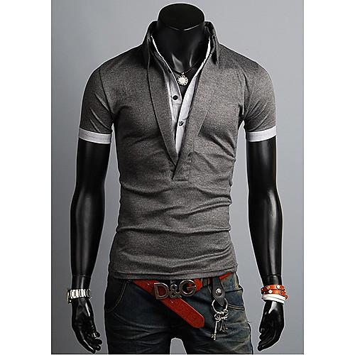 Рубашка поло мужская с двойным воротником Lightinthebox 1256.000