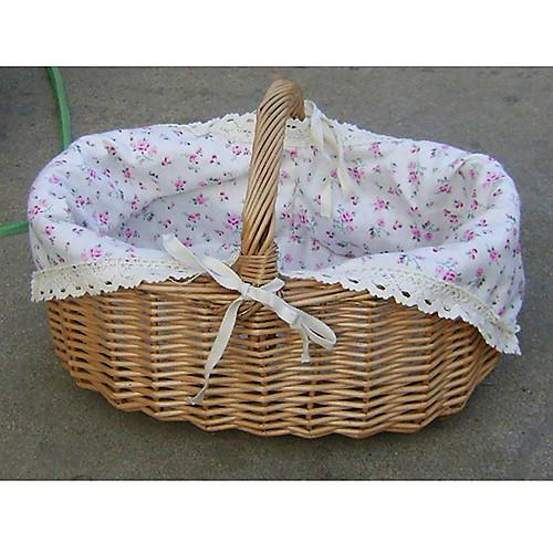 Симпатичные цветочные Cutton Лайнер ручной плетеная корзина хранения с одной ручкой Lightinthebox 528.000