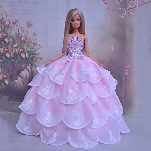 куклы Барби романтический розовый принцесса свадебное платье Lightinthebox 429.000