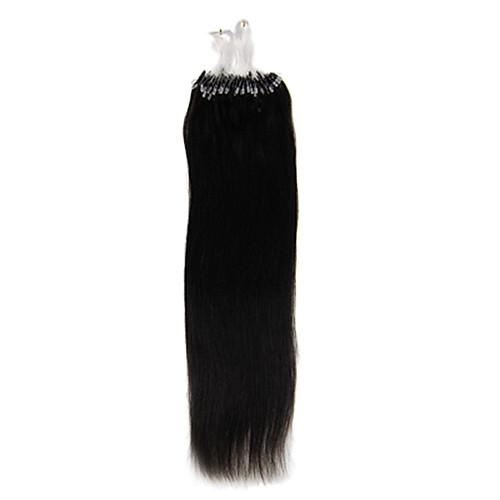 Remy 22inch 1шт Loops Micro Кольца Бусы чаевые Прямые Наращивание волос Более темные цвета 100s/pake 0,5 г / с Lightinthebox 1288.000