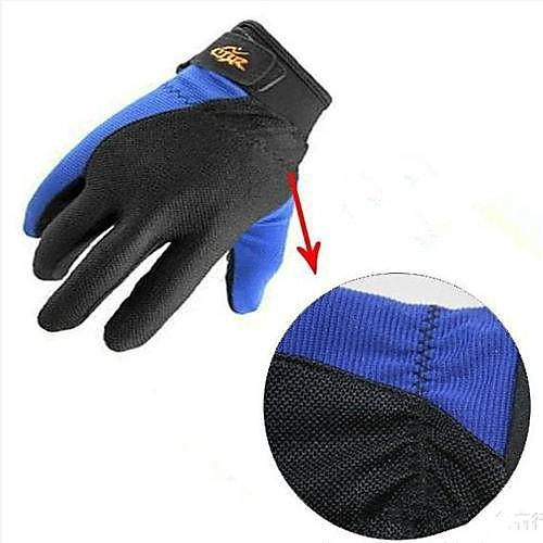 ЦБ Спорт на открытом воздухе ветрозащитный Теплый Велоспорт Полный пальцев перчатки - черный  синий (размер L) Lightinthebox 479.000