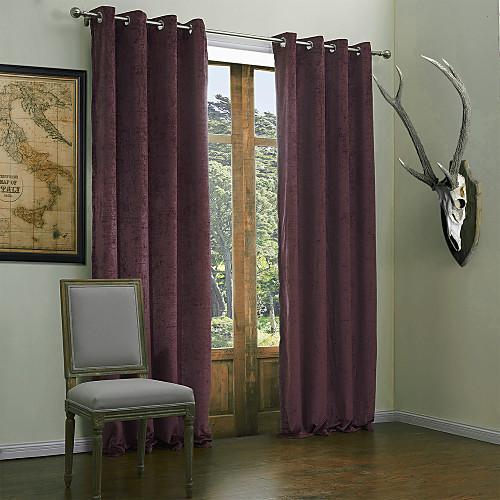 (Две панели) современный минималистский пурпурного твердого вещества полиэстер энергосбережение занавес Lightinthebox 3437.000