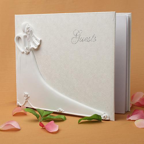 Жених и невеста свадебный дизайн гостевой книги в белой смолы Lightinthebox