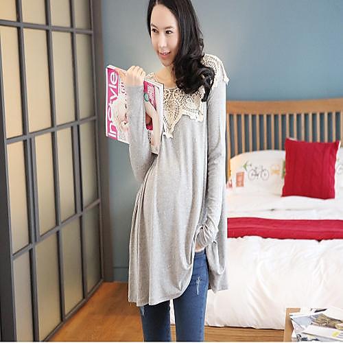 Материнство Длинные рукава Свободные Большой размер футболка Топы Lightinthebox 949.000