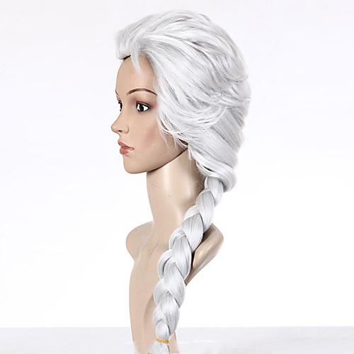 Замороженные Снежная королева Принцесса Эльза парик Белый Косплей Lightinthebox 1460.000